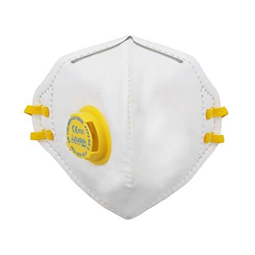 FFP3 Mascarilla con Válvula con Filtro, Mascarilla Antipolvo Plegable Mascarilla con Filtro 99% Máscara de Respiración de Carbón Activado Mascarilla de Seguridad Protección (1pcs)