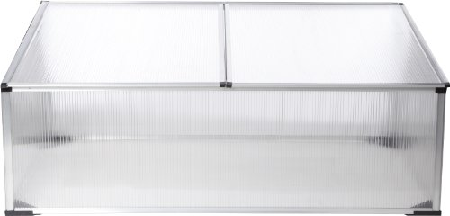 Gartenfreude broeikas koude bak aluminium frame met polycarbonaat platen 100 x 60 x 40 cm (l x b x h)