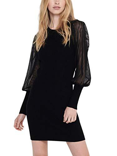 Only ONLEYLENE L/S Dress KNT Vestido, Negro, L para Mujer