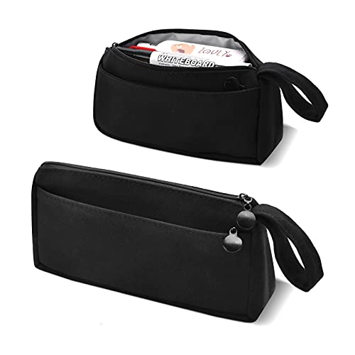 Small Capacity Pencil Case Pencil Pouch School Supplies for Middle High School College Students,Lightweight Pencil Box Pen Holder,Desk Organizer Office Organization Makeup Bag for School Office home
