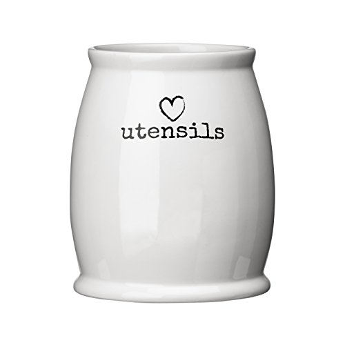 Premier Housewares Encanto Bote para té, cerámica, Blanco, 12 x 12 x 14 cm