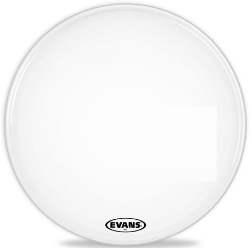 Evans MX2 White Marching Bass Drum Head, 26 Inch