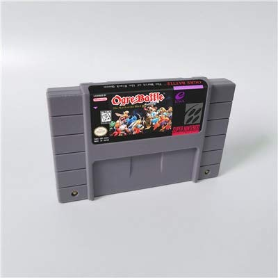 Game card - Ogre Battle - The March of the Black Queen - RPG Game card - US Version English Language Battery Save ,Game Cartridge 16 Bit SNES