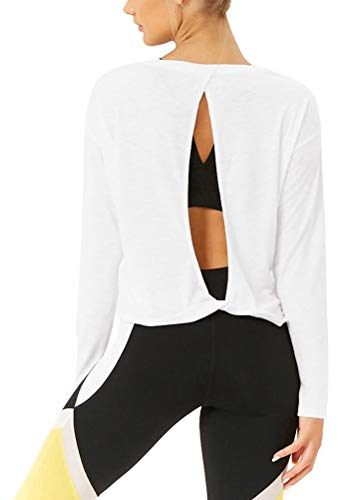 Relaxed, comfortable fit, the twisted open back design is really cute, fun to wear with a color tank or sports bra or sexy lace bra, it gives off a very stylish look, and also creates a breezy feel with more cooling as your run heats up Slightly crop...