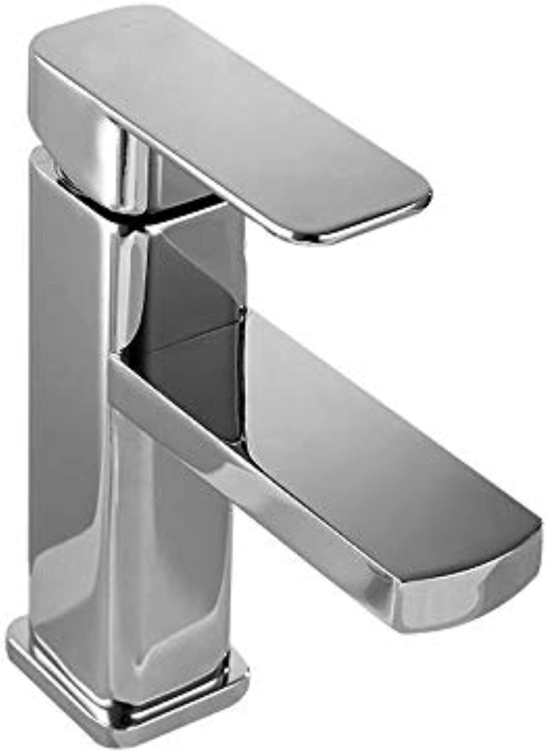 Precision Casting All Copper Electroplating Square Faucet hot and Cold Mixed Water