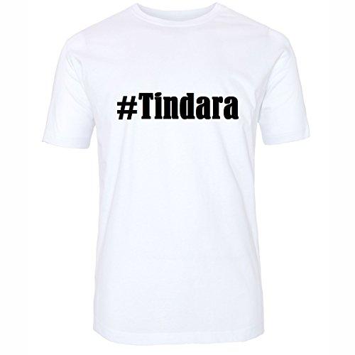 T-Shirt #Tindara Größe M Farbe Weiss Druck schwarz