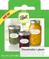 Ball Dissolvable Labels 120 Labels Total (or 2 Boxes of 60 Labels), for Canning or Mason Jars Labels, Freezer Labels, Washable, Easily Removable, Parcel Tags, Mason Jar Labels