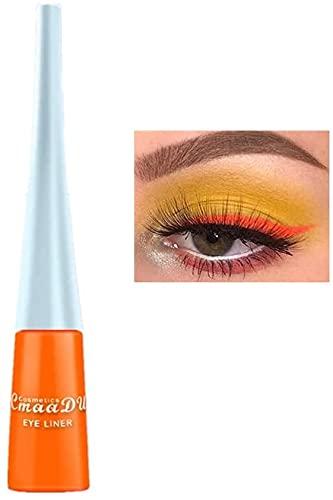 Liquid Eyeliner Matte Schnell trocknender Eyeliner, dauerhafter nicht blühender wasserdichter gelfarbener Eyeliner, Elf Candy Color Liquid Hochpigmentierter Eyeliner (Orange)