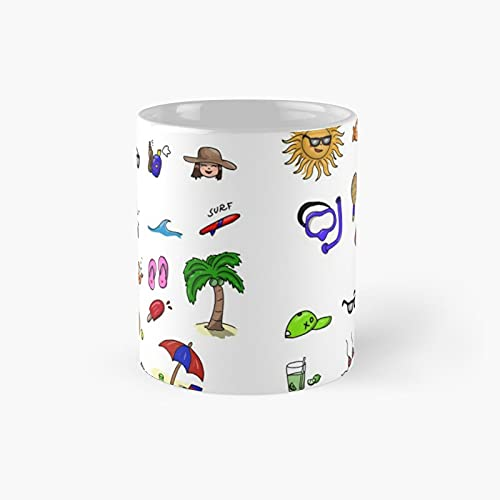 Summer Theme Sunshine Classic Mug   Best Gift Funny Coffee Mugs 11 Oz
