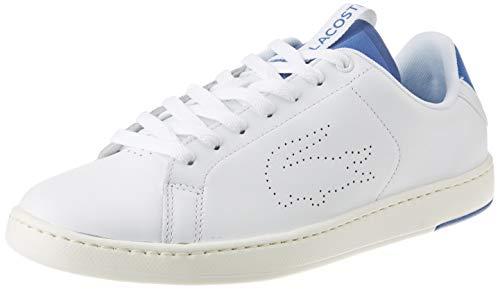 Lacoste 739SFA0012080, Zapatillas para Mujer, Blanco, Blanco y Azul, 39 EU
