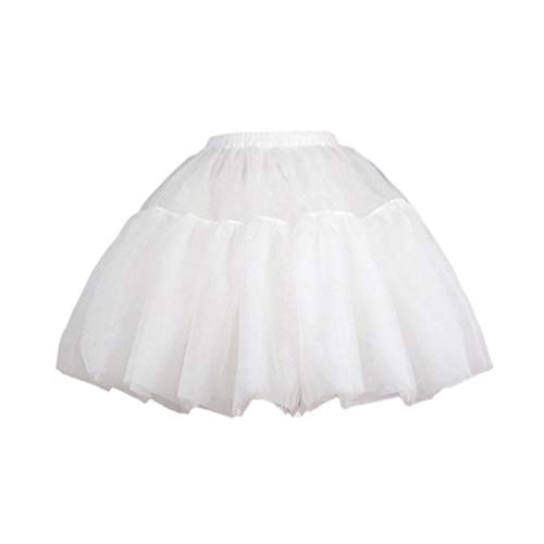 Amosfun Hoopless Petticoat Unterrock Cosplay Kleid Tutu Rock Krinoline für Dame Kleid