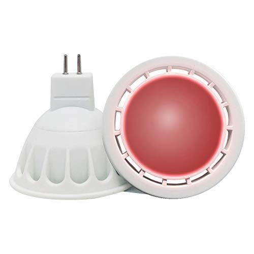 VARICART GU5.3 12V LED COB Bombilla Color Rojo, 6W MR16 60° Ángulo Haz, 50W Halógeno Equiv. 500lm, Luz Especial...