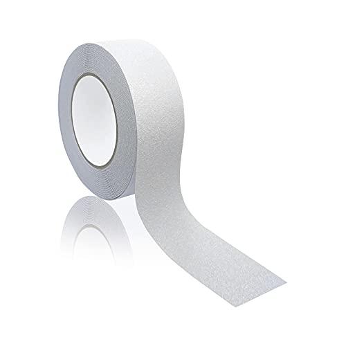 Antirutsch Streifen transparent (50mmx10m) mit extrem hoher Klebekraft & Widerstandsfähigkeit - rutschhemmendes Klebeband für Treppe Dusche Leiter Stufen & Bodenbeläge aller Art