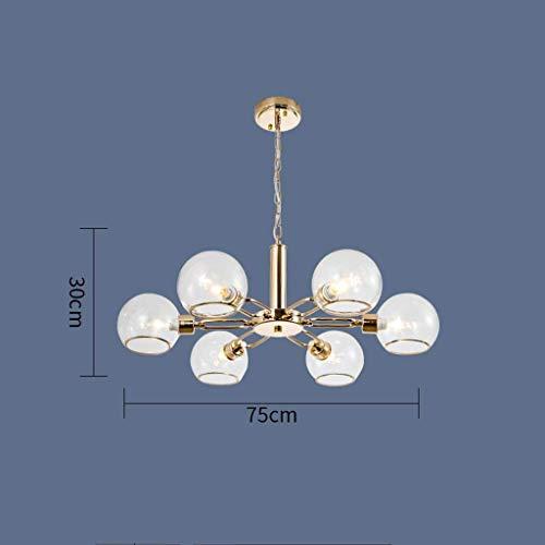 ZGQA-GQA Luces Pendientes, Semi Moderno de Cristal llevó la Pendiente de la lámpara de Las Luces de Brillo Dorado Comedor Habitación Lámparas LED Iluminación Dormitorio faroles Colgantes