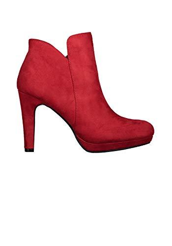 Hailys Damen Stiefeletten High Heels Kunstleder Stiefel Boots (41 EU, Black)