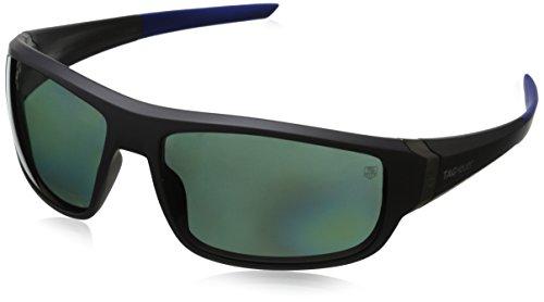 Tag Heuer Racer29221rechteckige Sonnenbrille Gr. 64 mm, Grey & Cobalt Blue