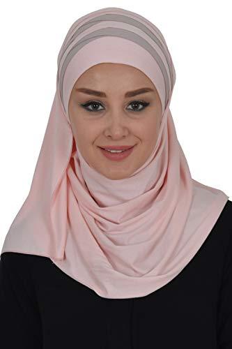 Jersey-Schal für Damen, Baumwolle, zweifarbig - - Einheitsgröße