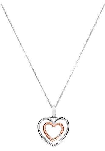 CHRIST Damen-Kette 333er Weißgold, 333er Rotgold 1 Diamant One Size 86456494