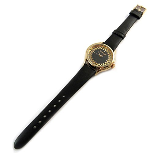 Morgan [N9867] - Designer-Uhr 'Morgan' Schwarze Rose Gold (Spitze).