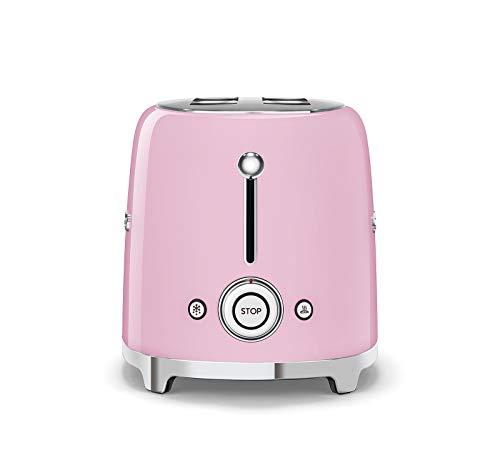 Smeg-50er-Jahre-Retro-Stil-Toaster-Set-mit-Norpro-Bambus-Zange-2-Scheiben