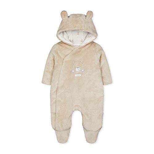 Mothercare NB Mfu Bear Fleece Pramsuit Ensemble, Noir (Cream 33), Tiny Baby (Size:50) Mixte bébé