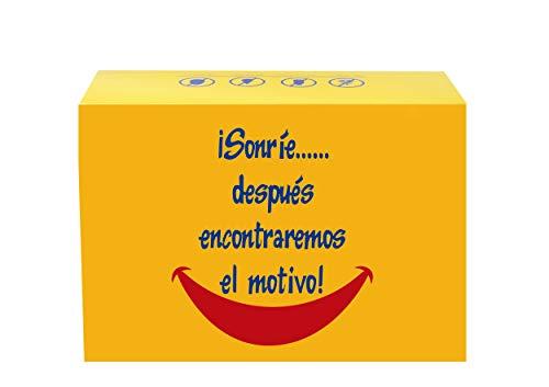 SMARTY BOX Regalo Caja original de Caramelos y Gominolas, con frases. para Amiga, Novía. Chuches, Chucherías sin Gluten Golosinas (MODELO 1) (MODELO B)