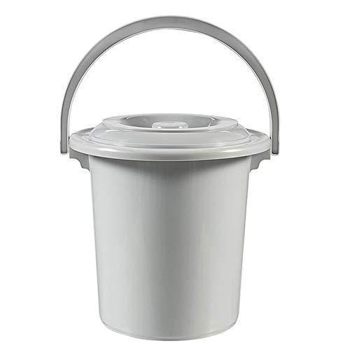 Toiletteneimer 10 Liter, Eimer, Toilette Campingtoilette tragbare Toilette mobiles WC 10L Reisetoilette Outdoor Reise Klo Campingklo Hygieneeimer für Erwachsene Kinder mit Deckel Chemietoilette