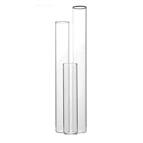 Tuuters 25 x glazen voor platte bodem van laboratoriumglas met kurk | reageerbuizen met vlakke bodem | dikwandig ✓