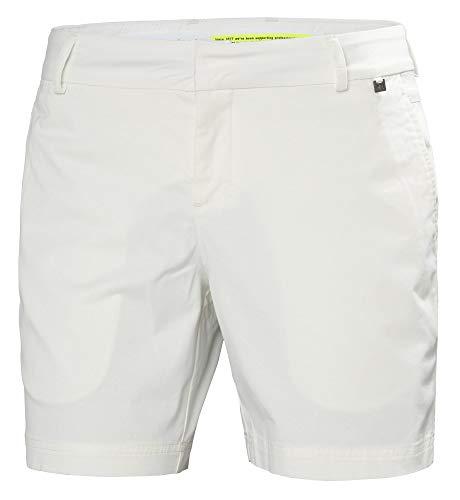 Helly Hansen Crew Shorts-34073 Shorts Femme, Blanc, Taille 33
