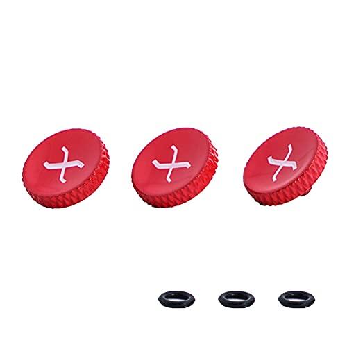 3 packs de botão de liberação do obturador, vermelho com X branco, cobre puro de alta qualidade botão de liberação do obturador suave para fuji