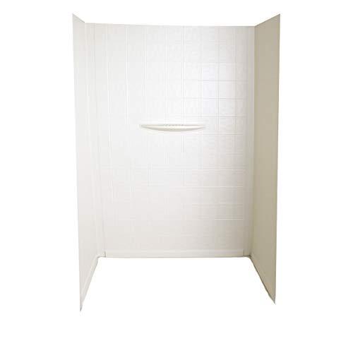Better Bath 210394 White 24' 40' x 62' Shower Wall Surround