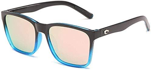 Gafas de sol Grandes gafas de sol polarizadas gafas de sol de película verdadera Espejos de playa-Negro_and_Blue_Framed_Barbie_Powder