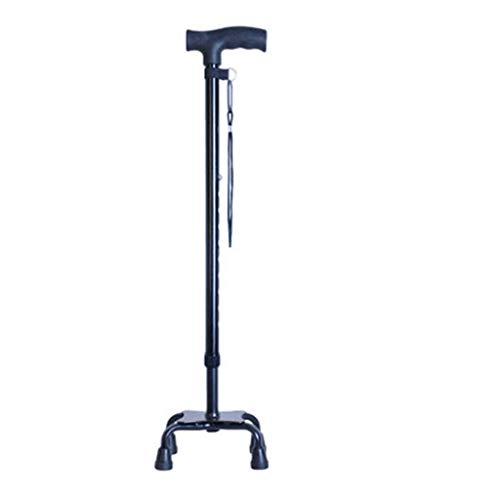 Gehhilfen Roller Walker - Hochfeste Multifunktions-, Vier-Ecken-Anti-Rutsch-, Einziehbare Cane, Old Man's Cane, Sicherheitsrahmen (Color : B)