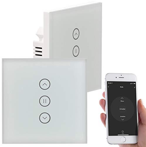 Luminea Home Control Rollladensteuerung: 2er-Set Rollladen-Touch-Unterputz-Steuerung, App & Sprachsteuerung (WLAN Rolladenschalter)