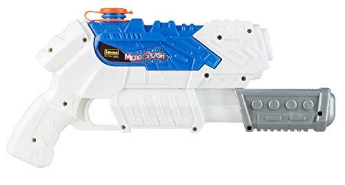 Idena Micro-Splash-Pistola de Agua para niños, con función de Bombeo, Aprox. 28 cm, Color Blanco, Ideal para Las Vacaciones, la Playa o la Piscina Berlin 40426