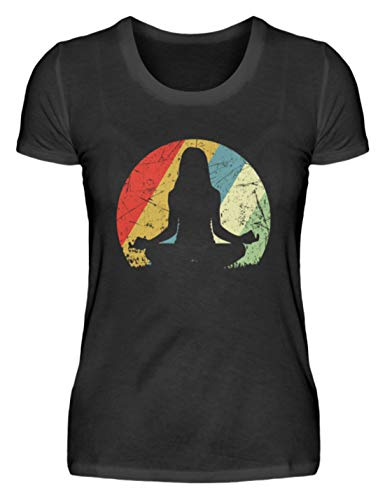ROCK-WITCHES - Camiseta de yoga vintage para amigos de yoga, meditación y esotérico, para mujer Negro XXL