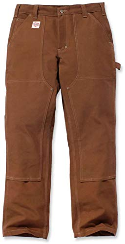 Carhartt Red Duck Double Front Work Dungaree Limited Edition Hose 36 L32