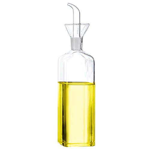 Floatant Olive Oil Bottle Olive Oil Dispenser Olive Oil Vinegar Cooking Wine Cotainer Salad Dressing Glass Oil Bottle Vinaigrette Oil Dispenser for Kitchen or BBQ17oz