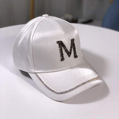 wtnhz Artículos de Moda Gorra de Diamantes de imitación mercerizada con Rostro pequeño Sombrero de béisbol Salvaje Femenino Estilo Coreano Sombrero de Sol de Moda Moda masculinaRegalo de Vacaciones