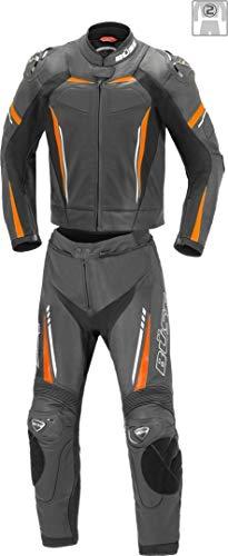 Büse Imola 2-Teiler Motorrad Lederkombi Schwarz/Orange 52