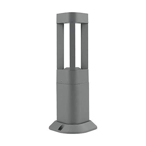 Topmo-plus Lampioncino da sentieri/Design Luce del giardino/Lampade da terra Alluminia / 7W LED bridgelux COB/Lampione Paesaggio/aiuole IP65 grigio 4000K 770LM 30CM