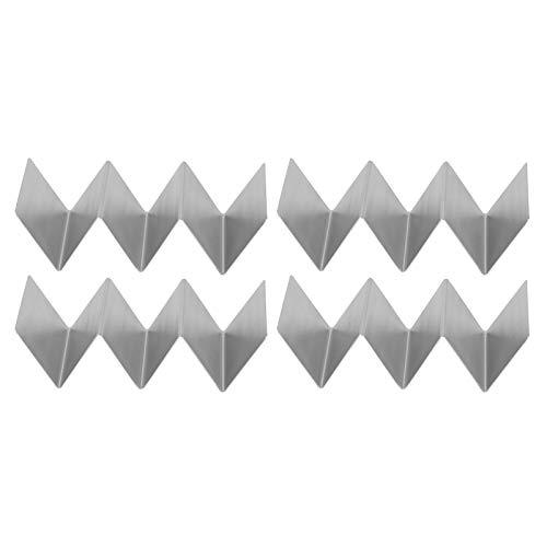 Soporte para tacos GAESHOW, 4 soportes para tacos en forma de W, soporte para panqueques de acero inoxidable, herramienta de cocina para restaurante, comedor