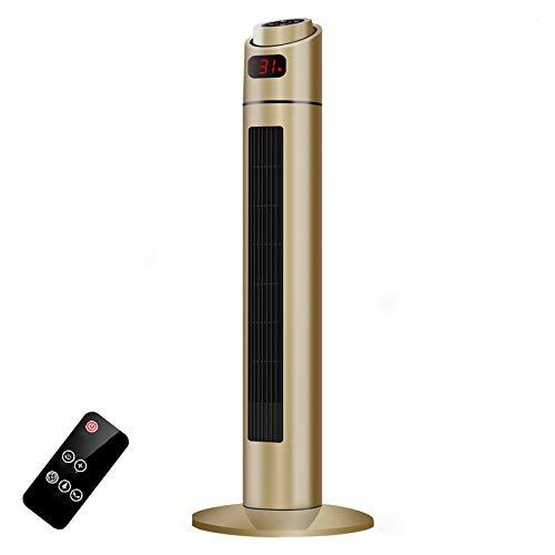 FFZZ Ventilador Calefactor De Cerámica con Ahorro De Energía De 2000W 3 Modos con Protección contra Sobrecalentamiento Apto Silencioso Y Silencioso Mate Impermeable A Temperatura Constante,Oro