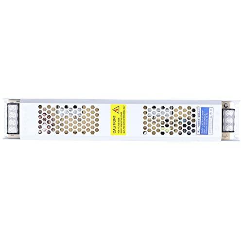BIKING Fuente de alimentación conmutada, 310x55x24mm Fuente de alimentación conmutada Unidad LED Tira Ultrafina Aleación de Aluminio 12V 200W