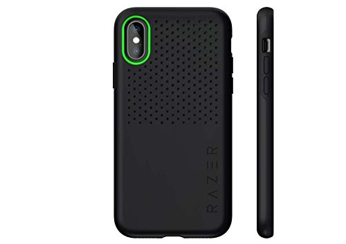 Razer Arctech Pro for iPhone Xs Case / iPhone X Case: Thermaphene & Venting Performance Cooling - Wireless Charging Compatible - Drop-Test Certified up to 10 ft - Matte Black