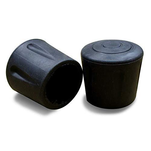 ajile Fusskappe Rohrkappe aus Verstärktem Vulkanisiertem Gummi SCHWARZ für Tisch- Stuhlfüsse Möbelfüsse mit 32 mm Durchmesser - 4 Stücke – EVS132x4-FBA