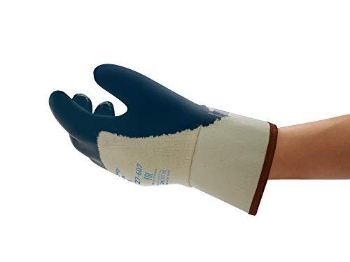 Ansell ActivArmr 27-607 Öl Abweisende Handschuhe, Mechanikschutz, Blau, Größe 10 (12 Paar)