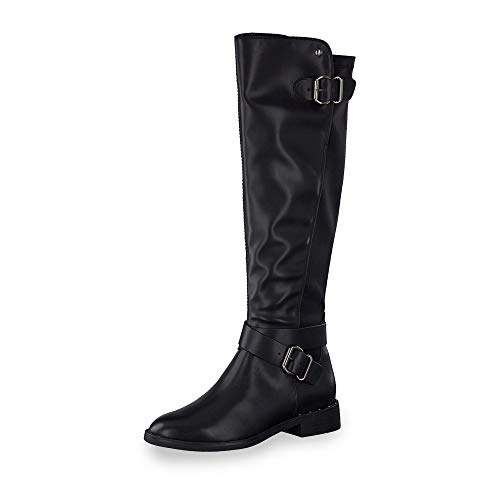 s.Oliver Damen Stiefel 25505-23, Frauen Overknee Stiefel, Woman Freizeit leger Overknee-Boots langschaftstiefel feminin Lady,Black,36 EU / 3.5 UK
