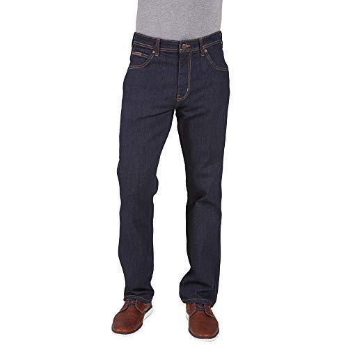 Wrangler Herren Arizona Stretch Schwarz Rinsewash Denim - Blau, 42 x Regular