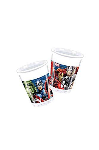 """Procos 86665 – Kunststoff-Becher mit Aufdruck der """"Marvels Avengers"""", mehrfarbig, Fassungsvermögen: 200 ml, Inhalt: 8 Stück"""